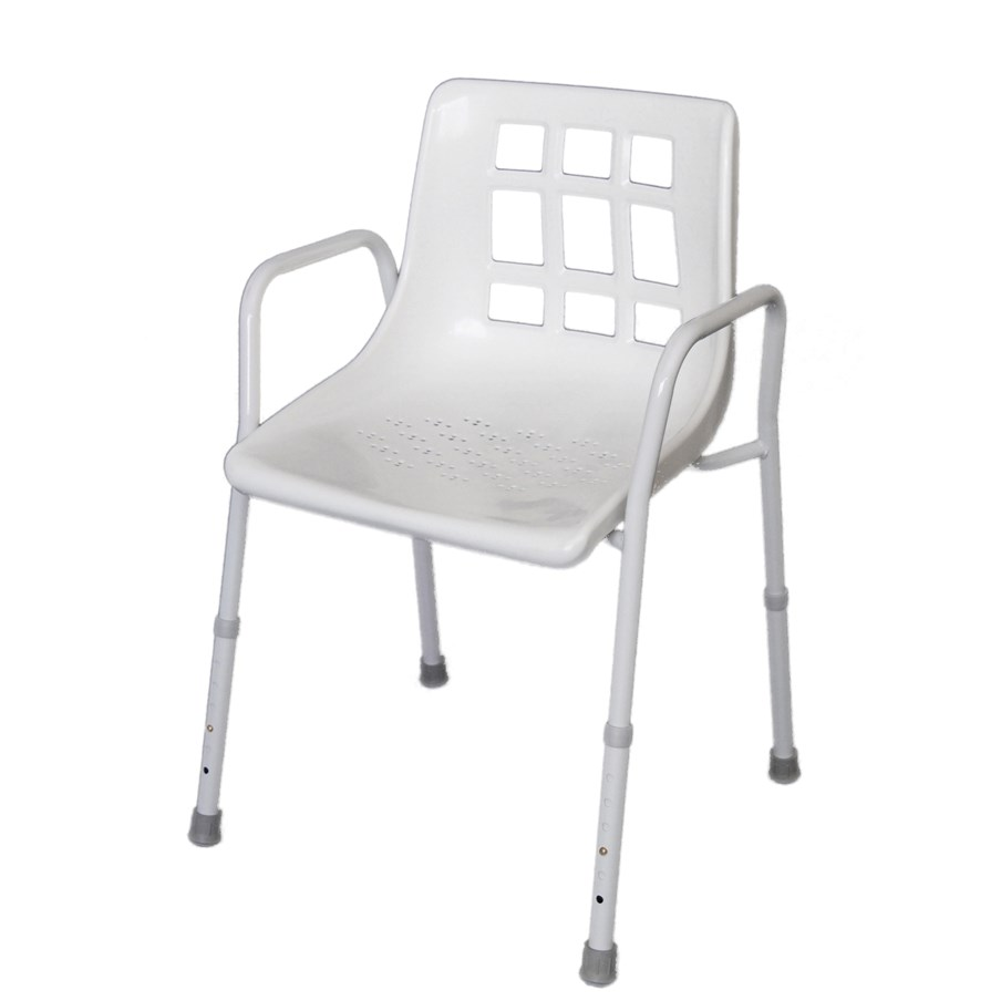 allied medical shower chair with arms back