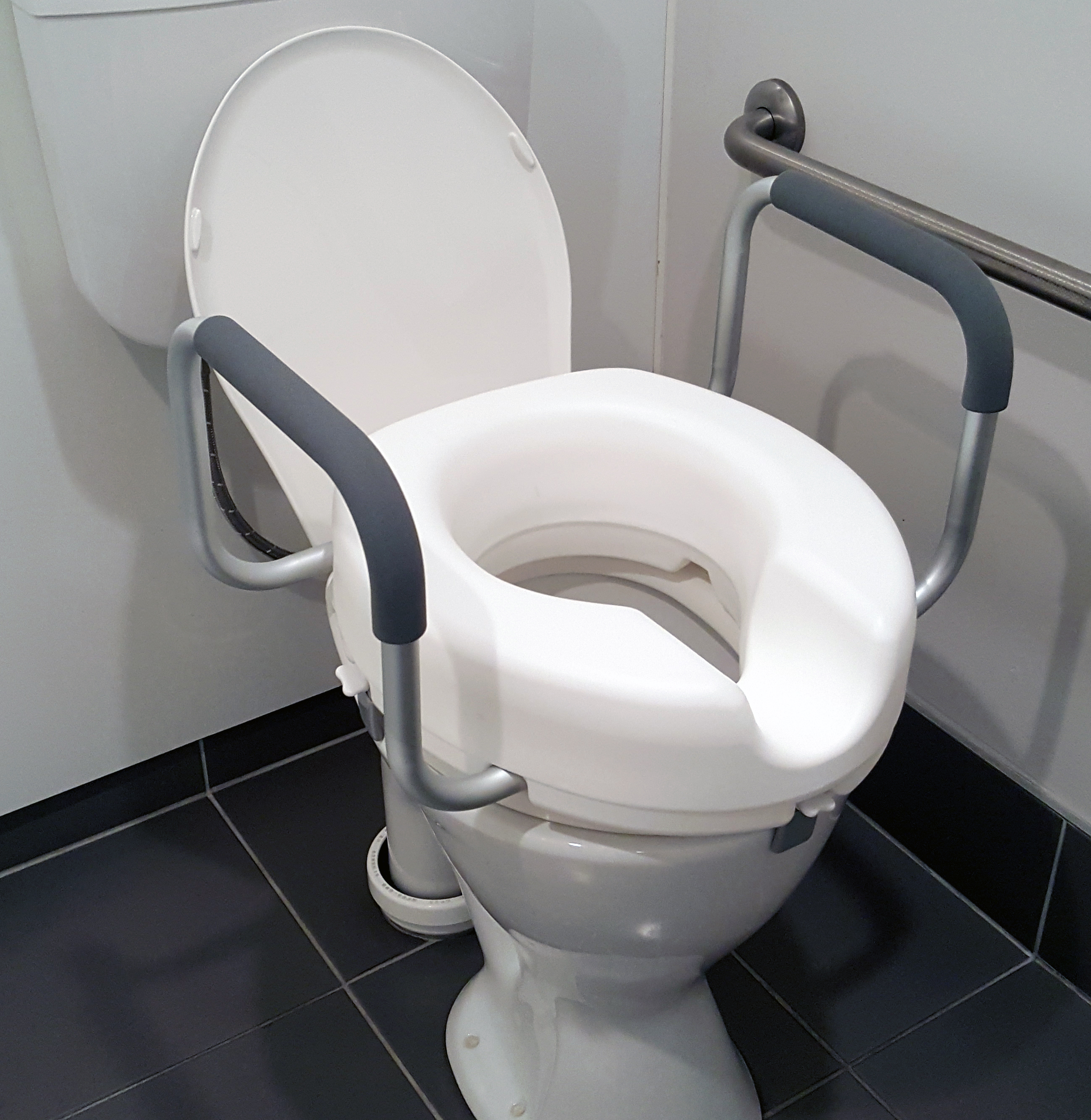 Allied Medical 4 Quot Raised Toilet Seat With Armrests